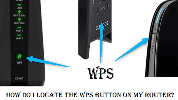 WPS button on router